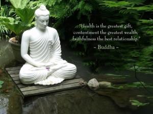 Buddha Saying in garden